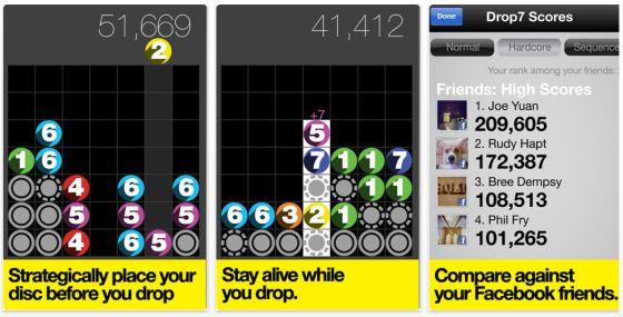Drop7 by Zynga - Screenshot