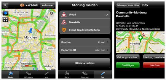 Rechtzeitig für den Osterverkehr: Navigon veröffentlicht kostenlose Verkehrs-App