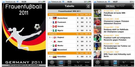 App Frauenfussball 2011 Screenshots