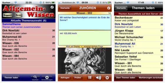 3000 Fakten Allgemeinbildung per Audio für iPhone und iPod Touch - Screenshots