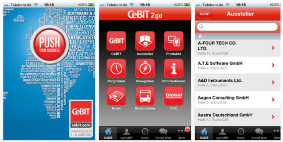 CEBIT2go Universal-App für den CEBIT-Besuch