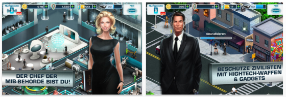 Men in Black 3 Screenshots des Spiels für iPhone, iPod Touch und iPad