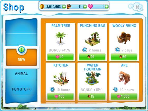 Ice Age Die Siedlung für das iPad - Screenshot Preise nach dem Update