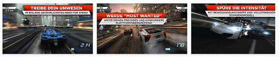 Need for Speed Most Wanted für iPhone, iPod Touch und iPad erschienen