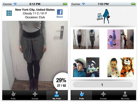 Pick my Dress - Screenshots der iPhone App