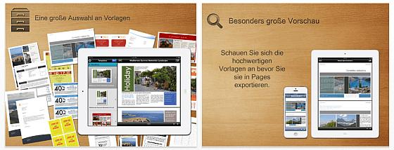 Vorlagen frür Pages Pro Screenshots