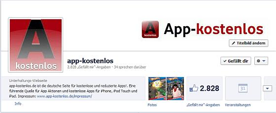 Hinweis für facebook-Fans von app-kostenlos: Nichts mehr verpassen – so geht's