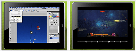 Splashtop Screenshots der iPad-Version