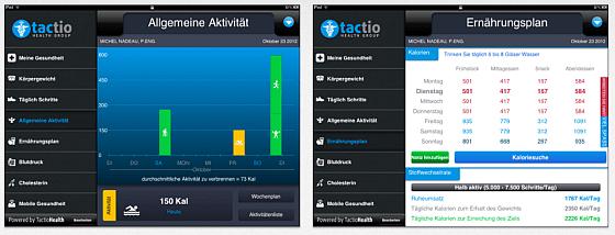 TactioGesundheit - App für iPhone und iPad - Screenshots