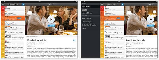 Live TV App Screenshots