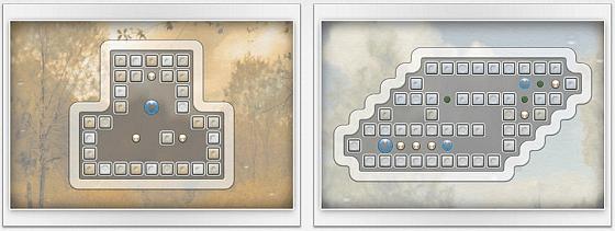 In zarten Pastellfarben präsentieren sich die handgezeichneten Level in Quell Reflect +. Während des Spiels werden oben kurze Hinweise eingeblendet, die neue Objekte einführen.