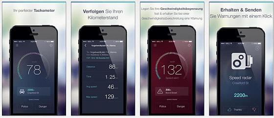 Die App Speedometer reduziert die Anzeigen auf das Wesentliche und erscheint so besonders klar und leicht zu erfassen - das ist im Auto ein Vorteil.