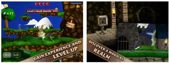 Eine kleine Zeitreise zu den früheren Jump-and-Run Spielen bietet Swordigo. Auch wenn man nahe an klassischen Computerspielen und Plattformern ist, wirkt das Spiel doch recht frisch und überhaupt nicht antiquiert.