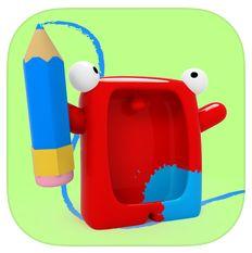 Kindgerechtes Malprogramm für iPhone und iPad heute kostenlos