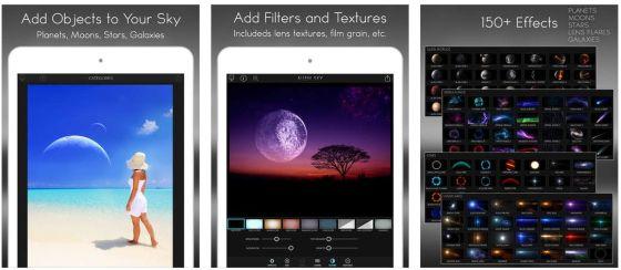 Mit Alien Sky fügst Du zu Deinen Fotos nach Belieben Himmelskörper und Lichteffekte hinzu.