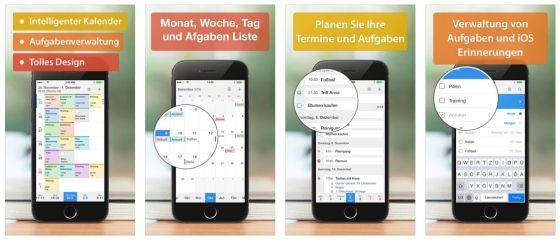Die App Calendars 5 wird dauernd gepflegt und verbessert und nutzt auch bereits die neuen Möglichkeiten von iPhone 6S und iOS 9 - sie wird sogar auf dem iPad Pro richtig dargestellt.