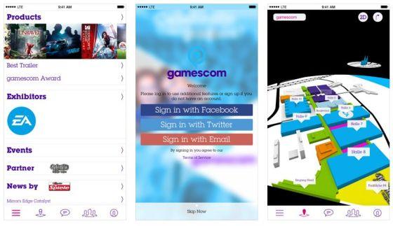 Die offizielle gamescom App bietet viele Infos zu neuen Spielen und Trends in der Spielindustrie.