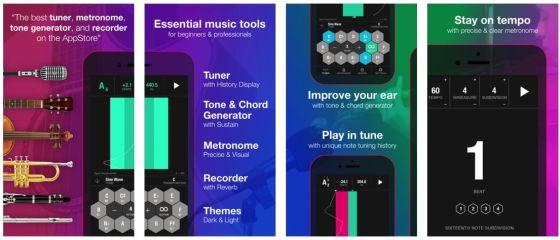 Tunable bietet eine abgestimmte und sinnvolle Sammlung an für Musiker nützlichen Funktionen.
