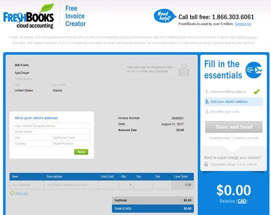 10 Best Free Online Invoice Generator - AppGinger - free invoice creator