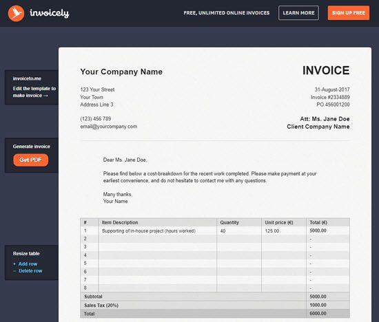 10 Best Free Online Invoice Generator - AppGinger - free invoice maker online