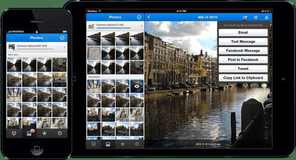 تطبيق Dropbox الجديد للآيفون والآيباد