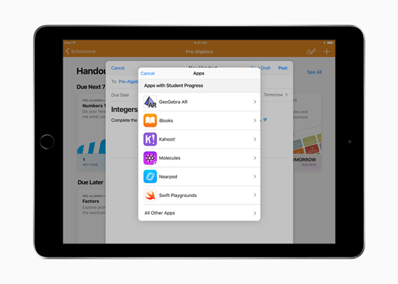Apple\u0027s free Schoolwork app now available for teachers - Apple (BW)