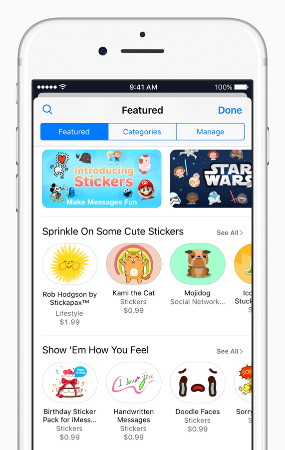 Stickers take iPhone by storm - Apple