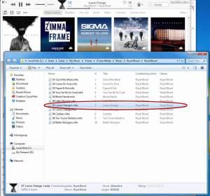 Skladba v Průzkumníku Windows