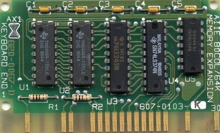 Apple IIe 80 Column/64K Memory Expansion (1986)