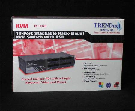 Trendnet 16-Port Stackable Rack Mount KVM Switch OSD