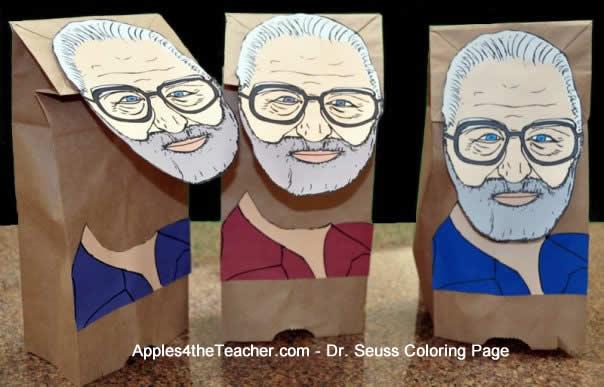 Dr Suess Portrait Coloring Page