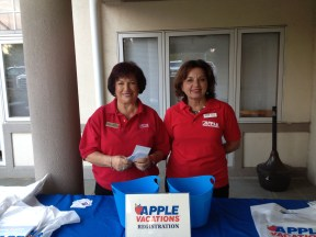 Susan Stoler and Rosemarie Zamarin from Apple Vacations Marketing Team at Plymouth Meeting Show