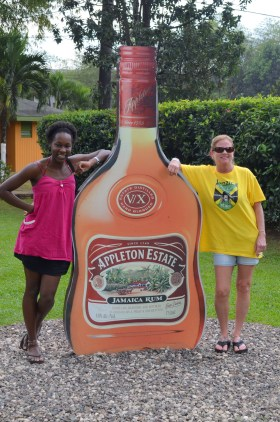 Listeners at the Appleton Rum Factory