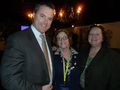 Susan Haigh-Bishop Senior Sales Manager, Kaanapali Beach Hotel with Tim Mullen and Karen McFadden from Apple Vacations.