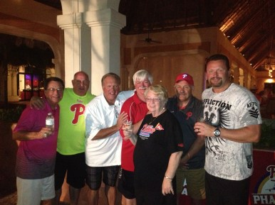 Scott Palmer, Greg Luzinski and Tommy Greene with some of the Phancationers!