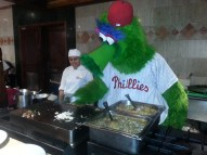 The Phanatic cooking up some breakfast.