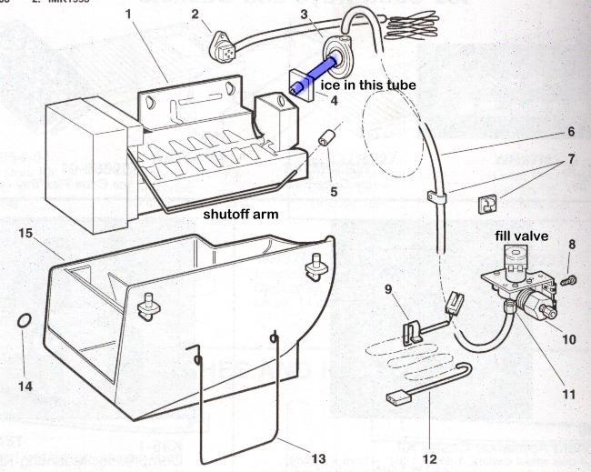 lg refrigerator ice maker diagram