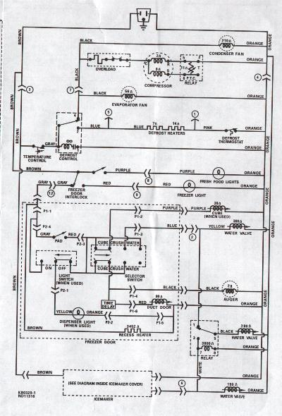 dryer wiring in addition ge side by side refrigerator parts diagram