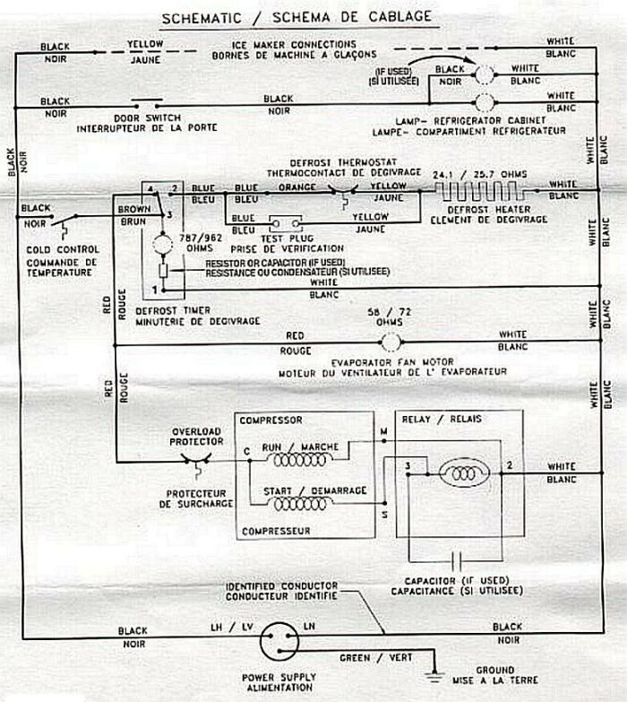 Wiring Diagram For Whirlpool Refrigerator Electronic Schematics