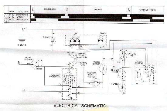 wiring diagram for admiral dryer