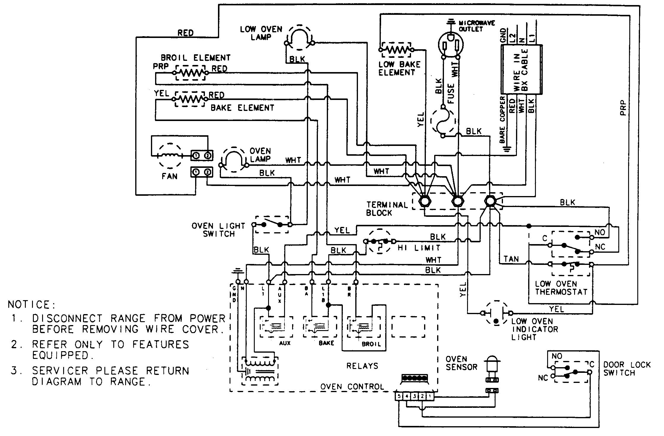 con gas oven wiring diagram