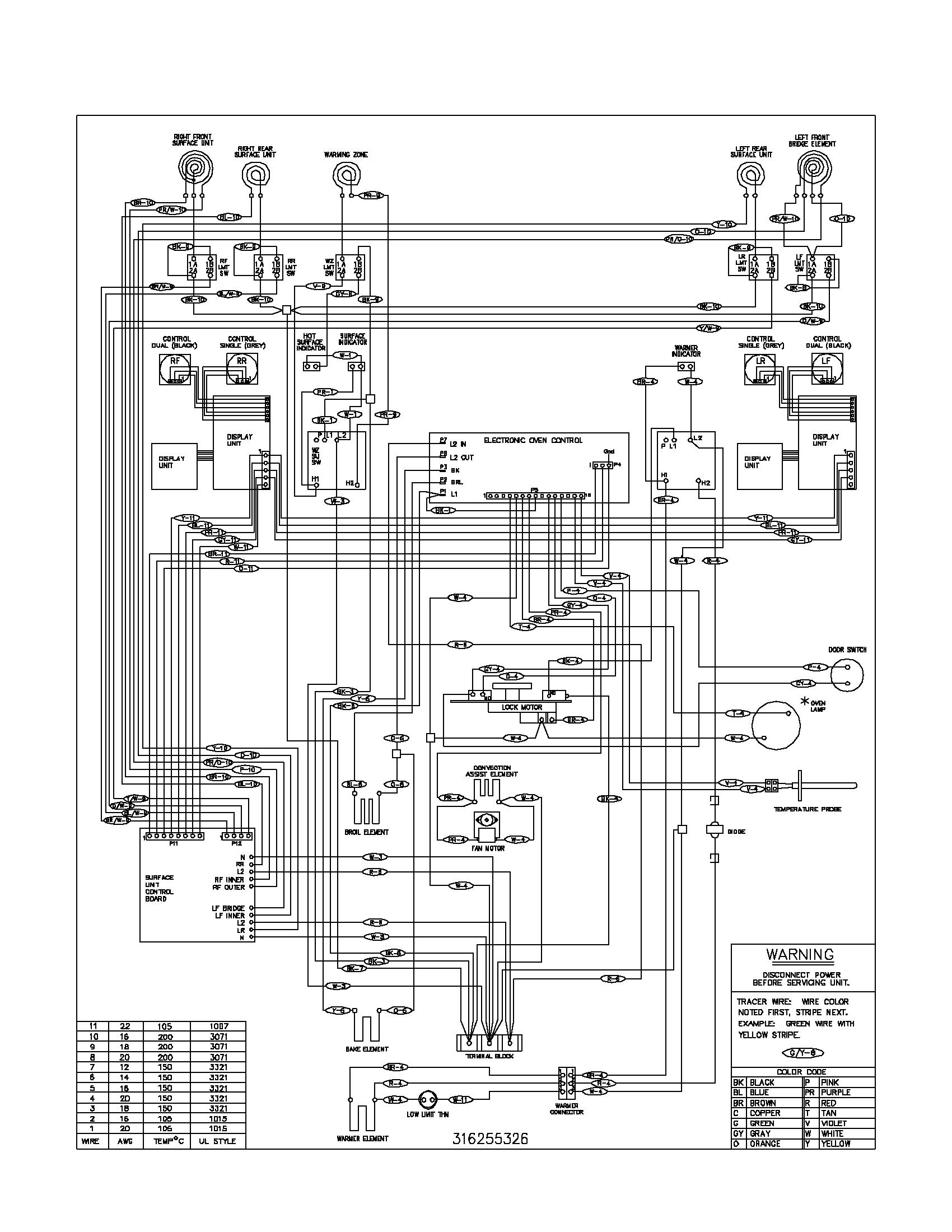 plef398ccc electric range wiring schematic parts diagram