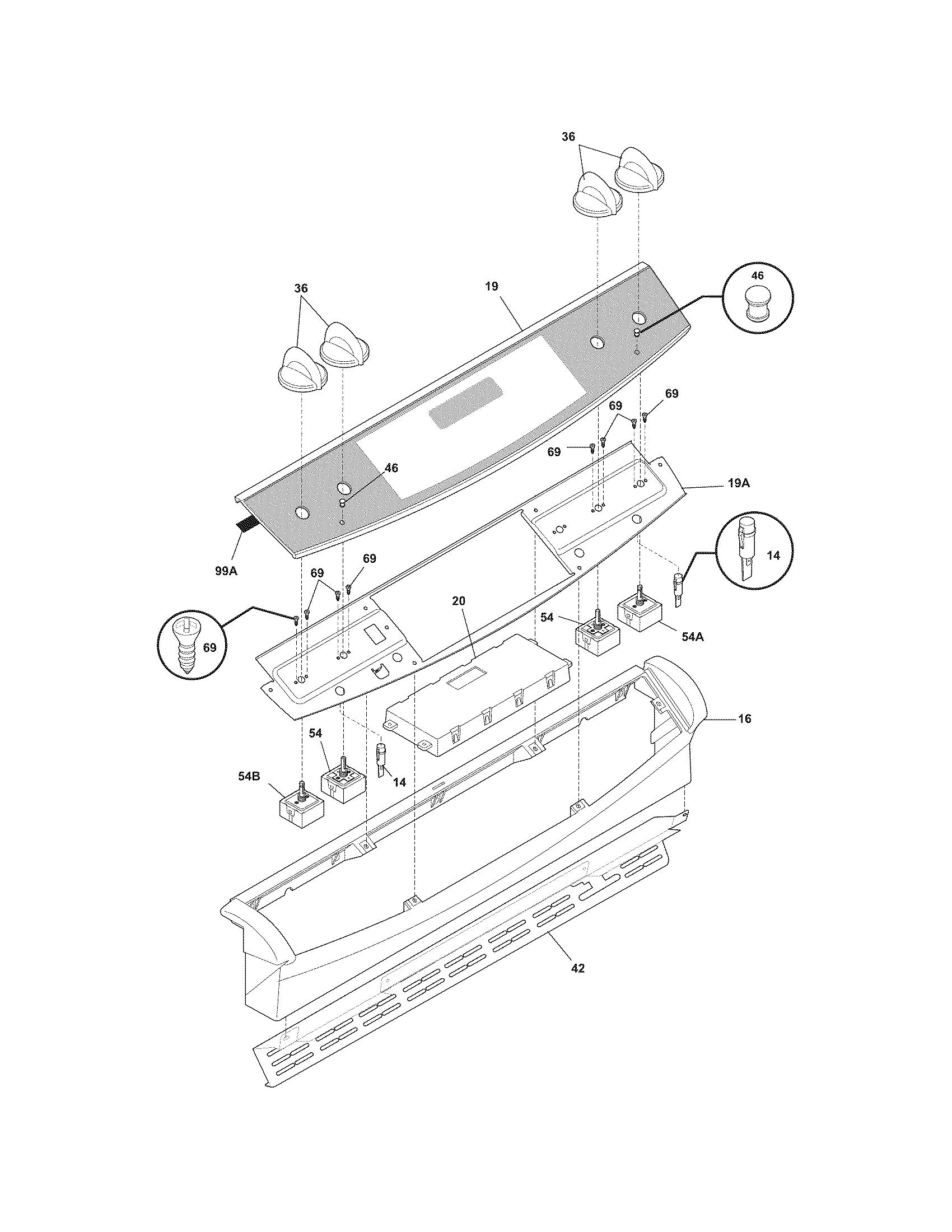 frigidaire range wiring diagrams