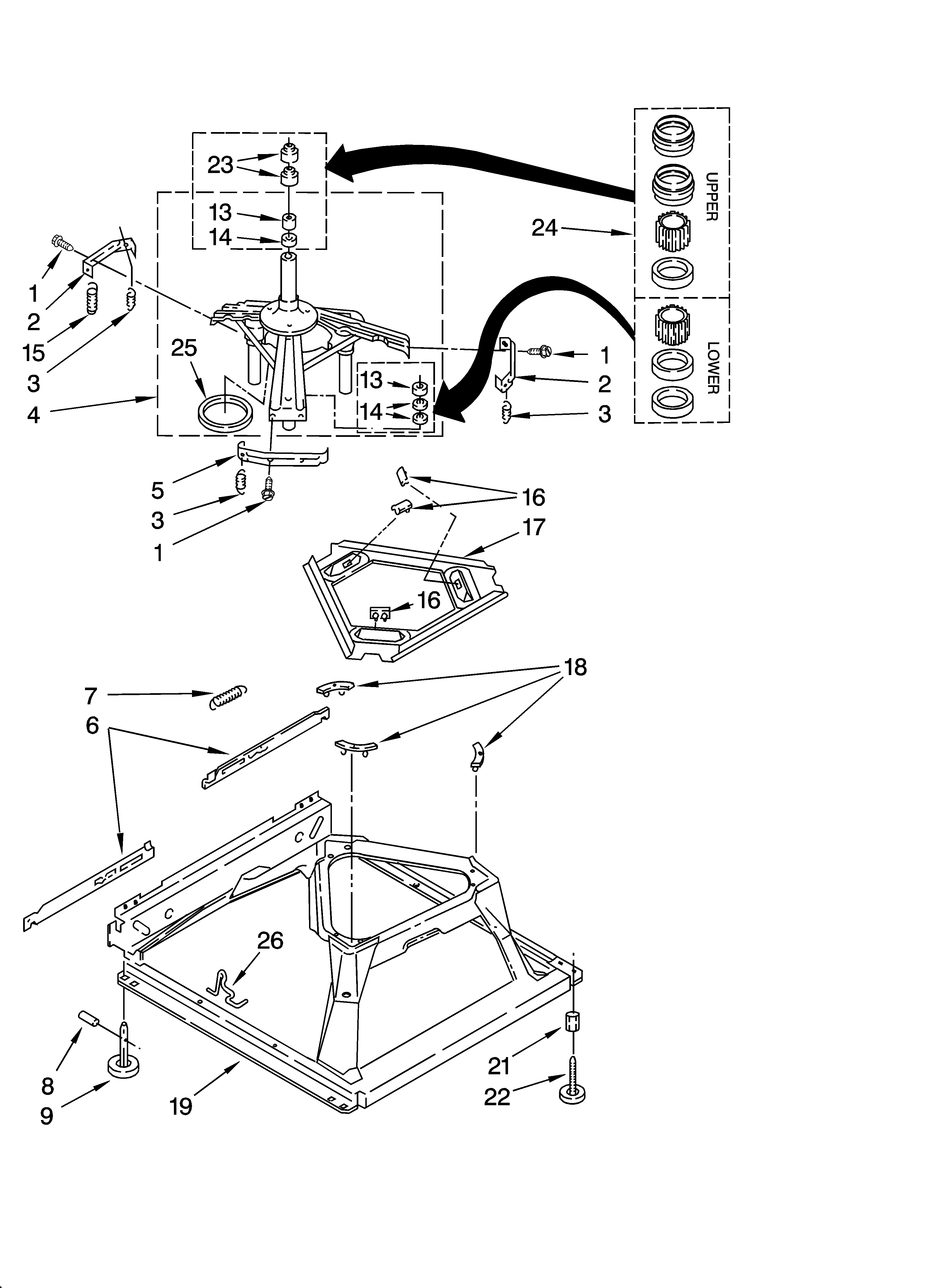 110258424 automatic washer wiring harness parts diagram