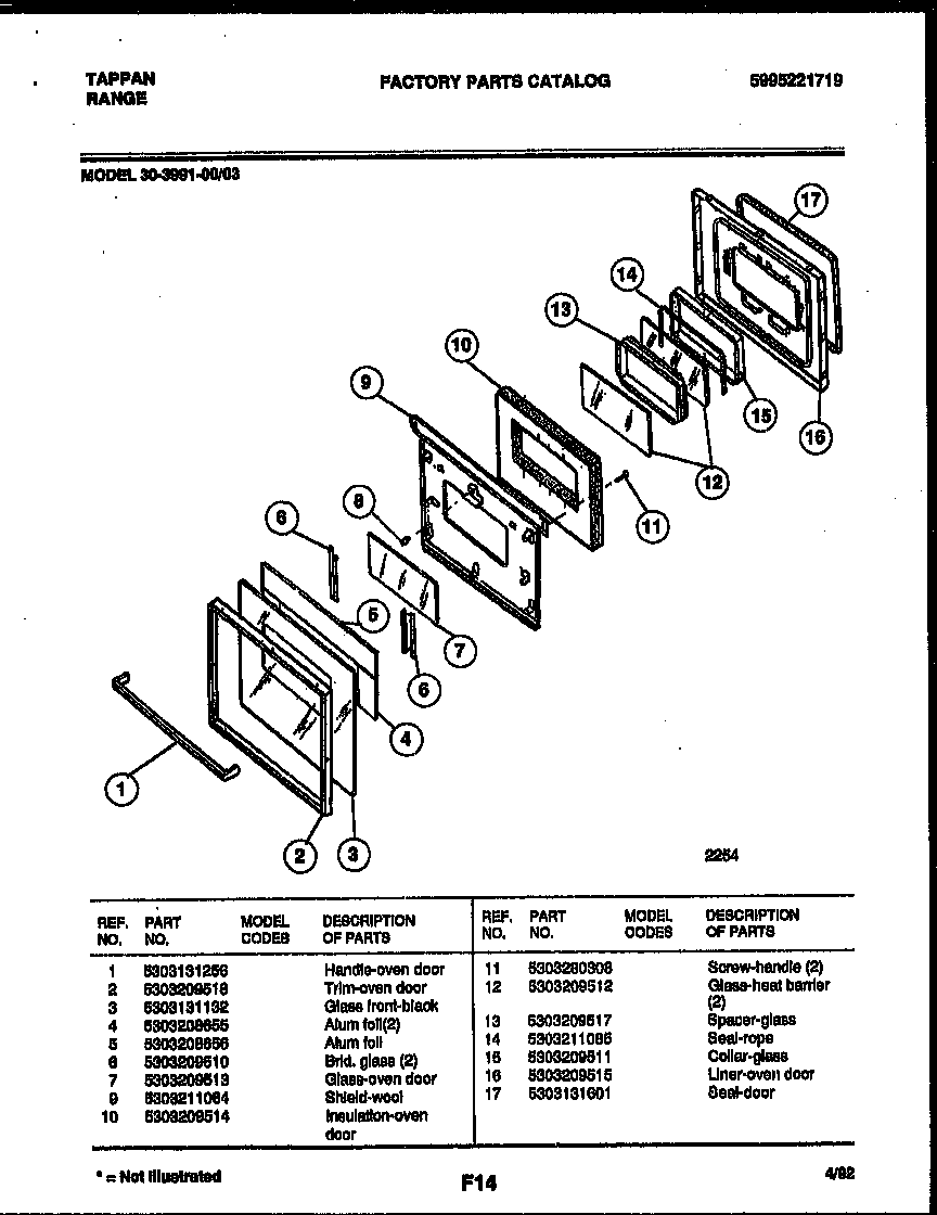 tappan appliances wiring diagram