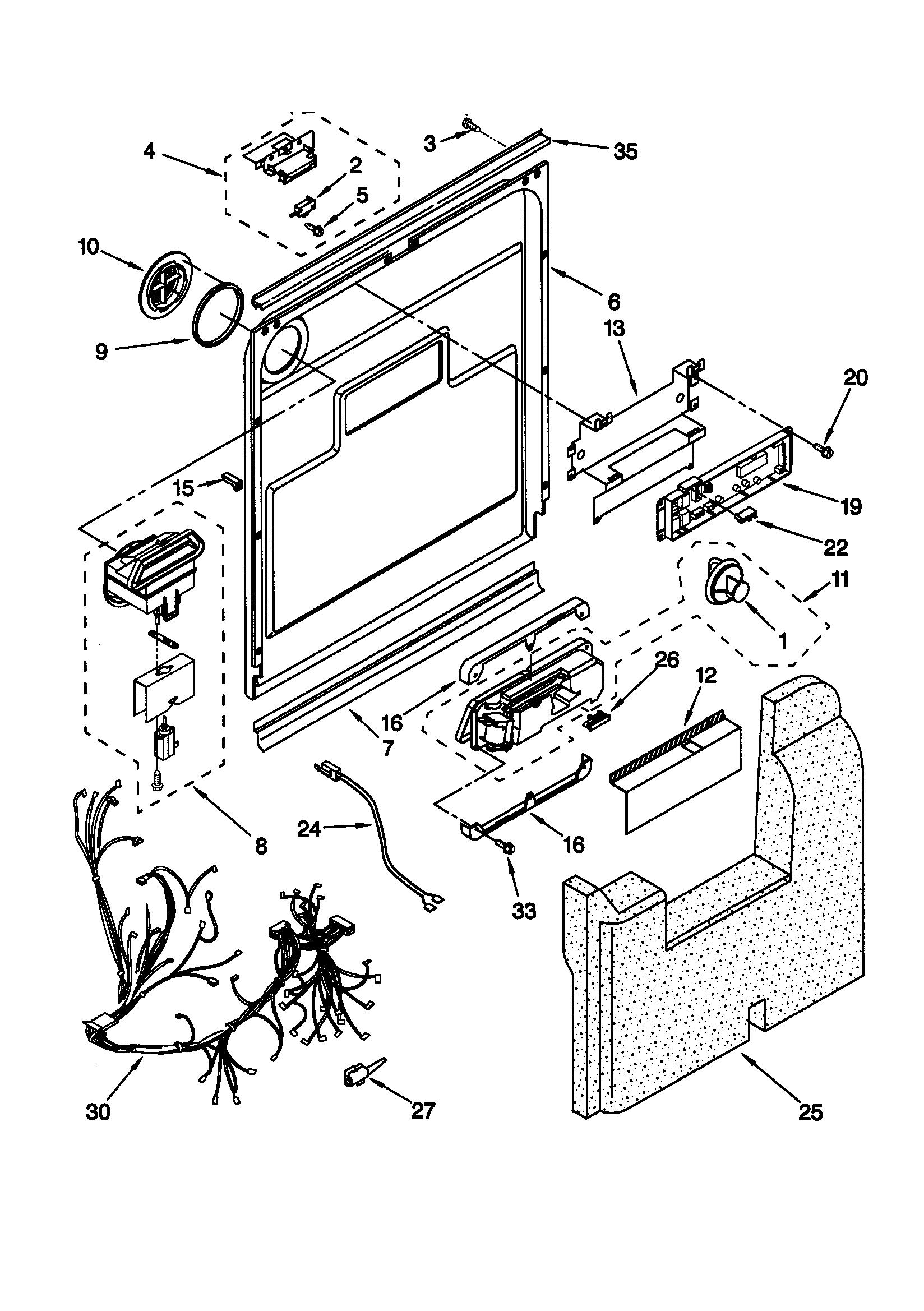 kenmore elite dishwasher model 665 wiring diagram
