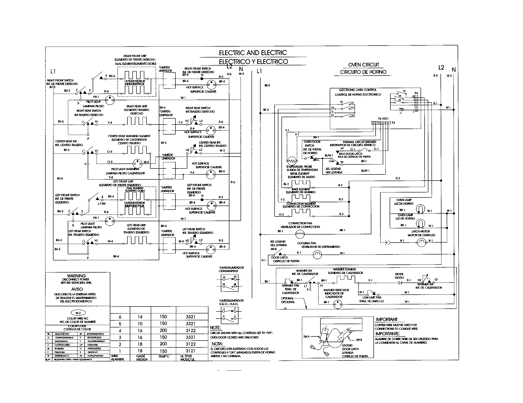 wiring diagram for lg gas stove