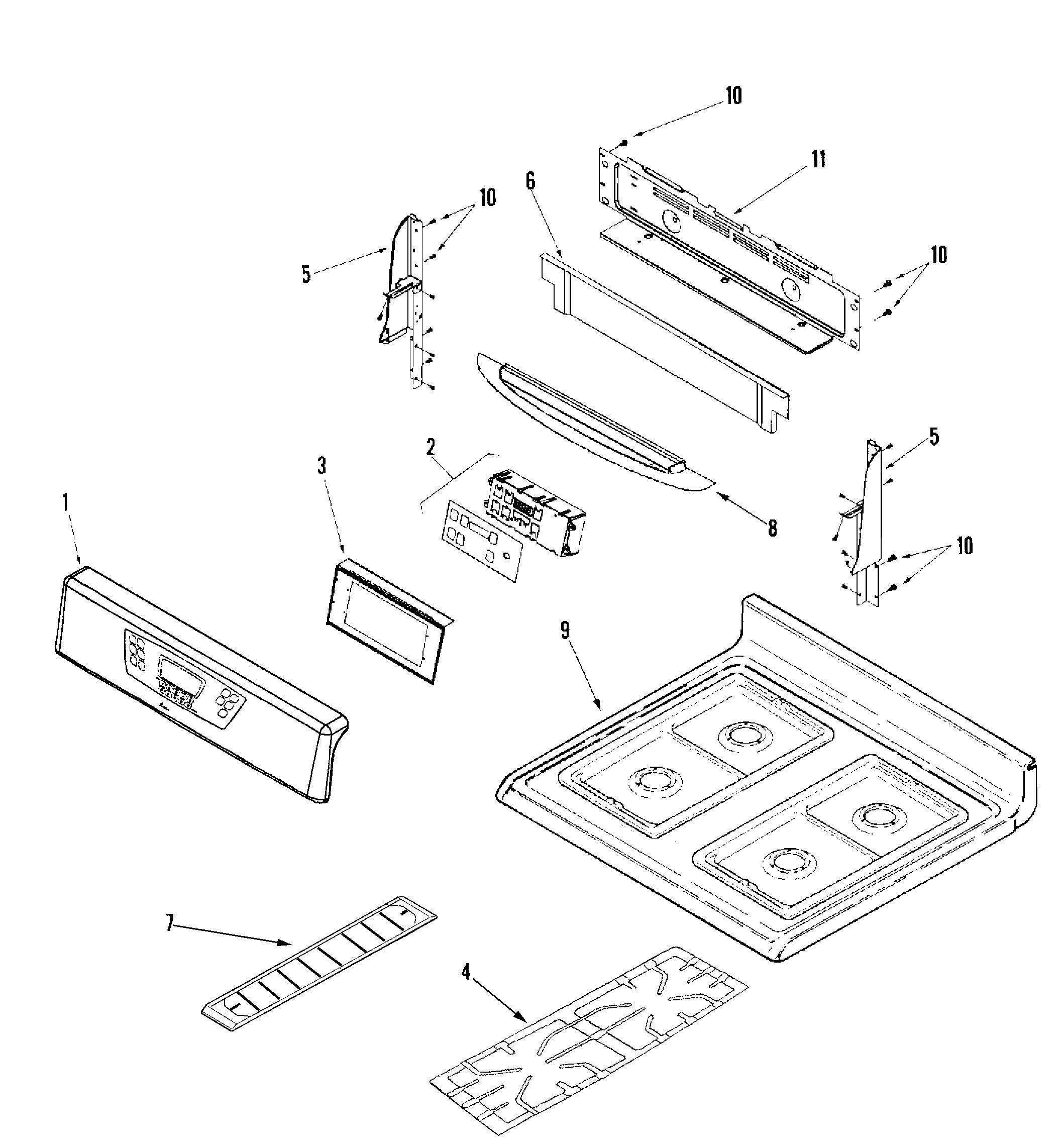 amana gas range wiring diagram