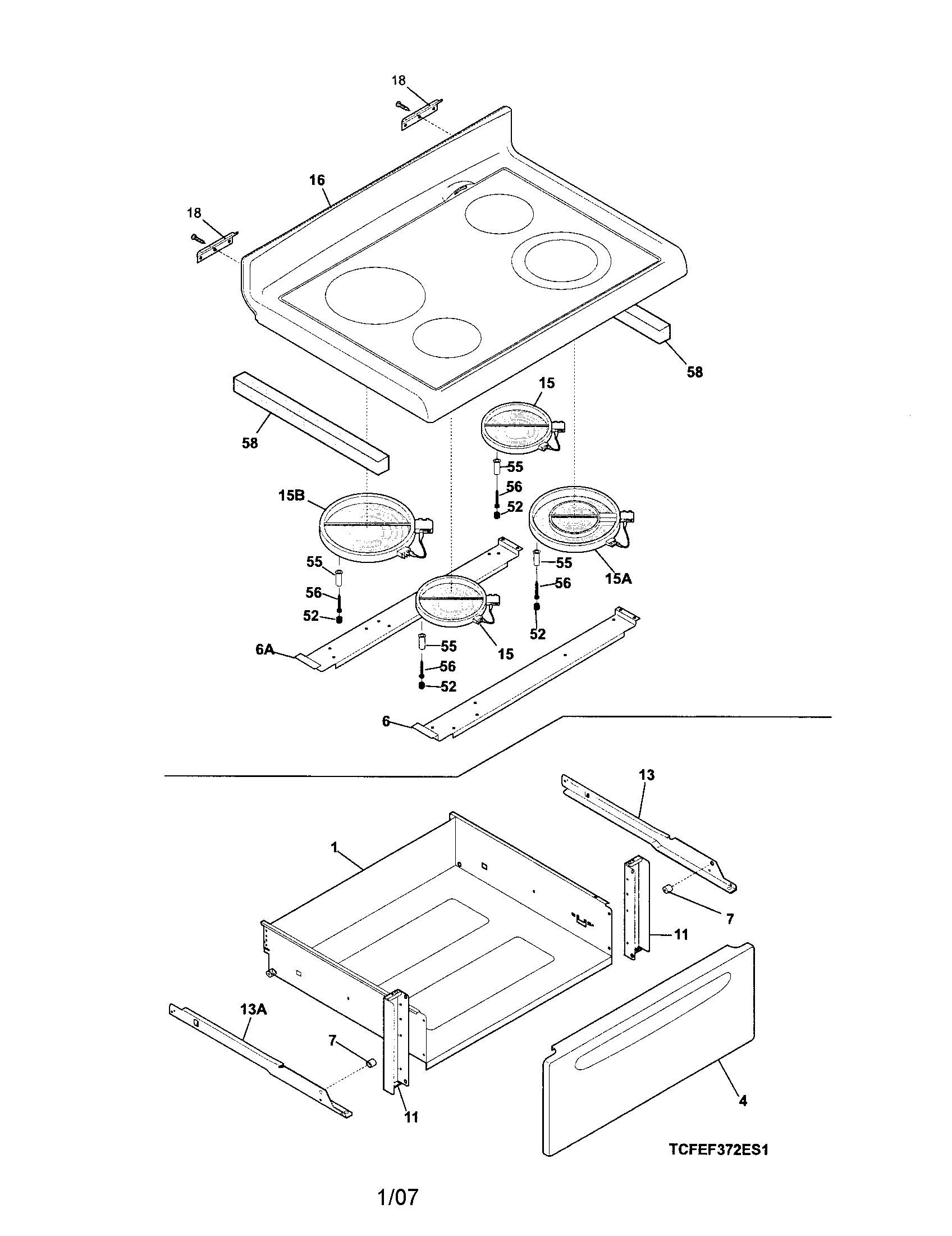 frigidaire wiring diagram stove