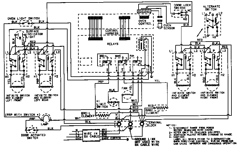 wiring diagram for whirlpool range